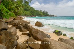 Anse Intendance beach rocks, Mahé, Seychelles