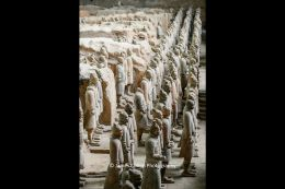 Rows of Terracotta Warriors in the first pit army, near Xi'an, China