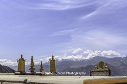 Snowy mountains as seen from Sera Monastery in Lhasa, Tibet, China