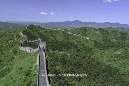 View over The Great Wall of China from Jinshanling, China