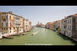 Quiet Grand Canal in Venice during Covid-19 pandemic, Italy