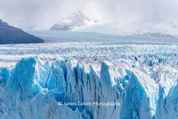 View over Glaciar Petiro Moreno, near El Calafate, Argentina