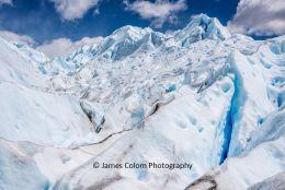 Peaks of the Glaciar Perito Moreno, near El Calafate, Argentina