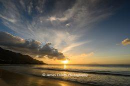 Sunset at Beau Vallon Beach, Seychelles