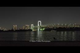 Rainbow Bridge at night, Tokyo