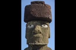 Close up of statue at Tahai