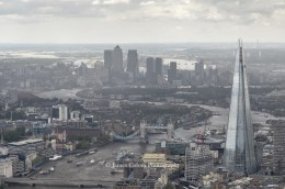 View of London as seen from helicopter