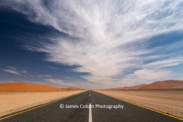 Road to Sossussvlei in Namib Naukluft National Park