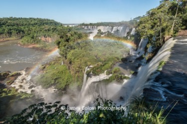 Rainbow over waterfalls at Iguazu, Argentina