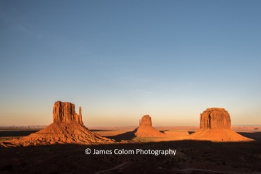 The Mittens and Merricks Butte at sunset, Monument Valley, Arizona and Utah