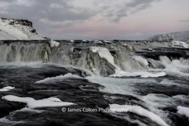 Gulfoss flowing in winter, Iceland