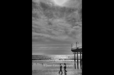 Walkers at Santa Monica Pier