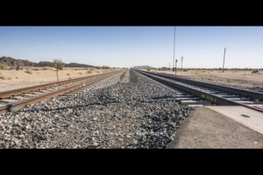 Track tracks in the Southern California Desert