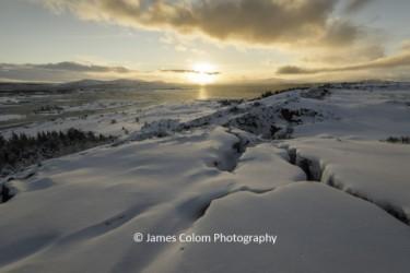 Thingvellie National Park Midday sun, Iceland
