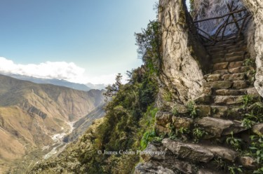 Inca Bridge secret entrance to Machu Picchu, Peru