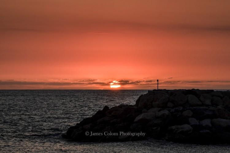 Sunset near Praia a Mare, Italy