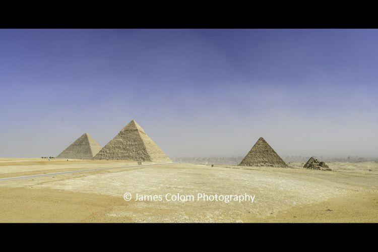 Great Pyramid Complex at Giza, Cairo, Egypt