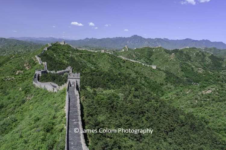 View over The Great Wall of China from Jinshanling, China