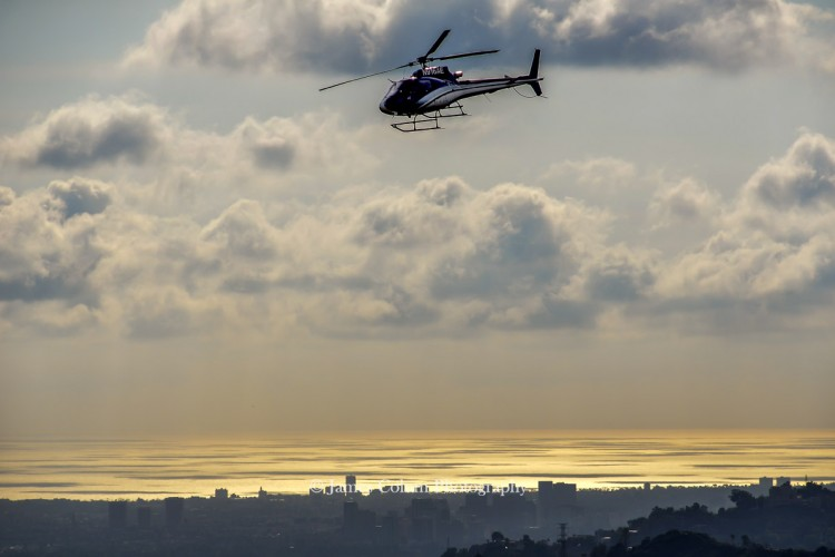 Hollywood Sign Lookout Helicopter