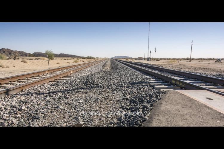 Track tracks in the Southern California Desert