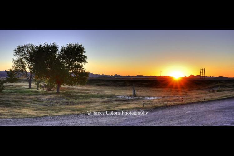 Sunrise over Badlands