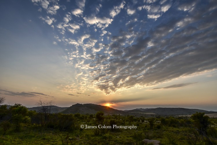 Sunrise at Pilanesberg National Park, South AFrica