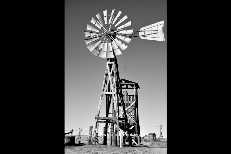Windmill in 1880 Town, South Dakota