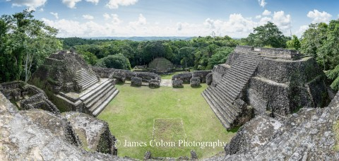 Top of Caracol Main Temple, Cayo District, Belize