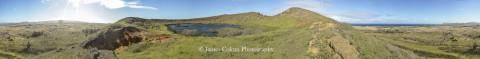 Rano Rarako crater lake, Easter Island