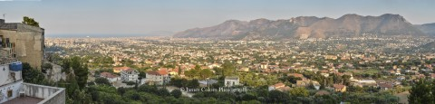 Palermo as seen from a viewpoint in Monreale, Sicily