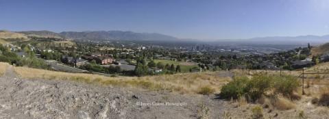 Salt Lake City cityscape from Ensign Peak
