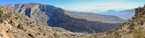 View of Jebel Shams Canyon in Oman
