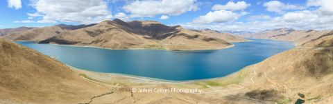 View of Lake Yamdrok near Lhasa, Tibet, China