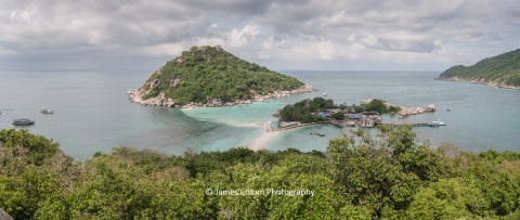 View from Koh Nang Yuan Viewpoint near Ko Tao, Thailand