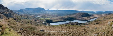 Panorama over village of Tanygrisiau in Snowdonia, Wales