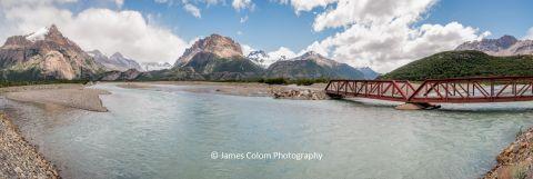 Bridge over Rio Electrico on Route 23 near El Chalten, Santa Cruz Patagonia, Argentina