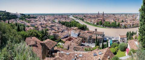 Verona City as seen from Top of Castel San Pietro