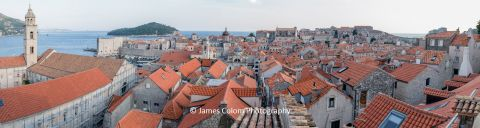 View over Dubrovnik from the city wall, Croatia