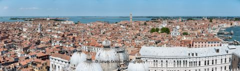 View from Top of St Mark's Campanile in Venice, Italy, during Coronavirus Pandemic 2020