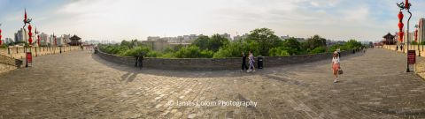 Panorama on Xian City Wall, South East Gate, Xi'an, China